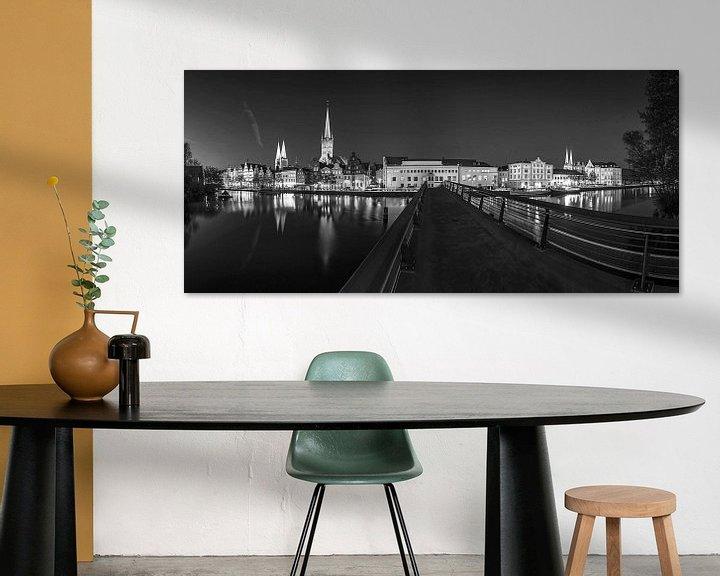 Sfeerimpressie: Lübeck Skyline Panorama van Frank Herrmann