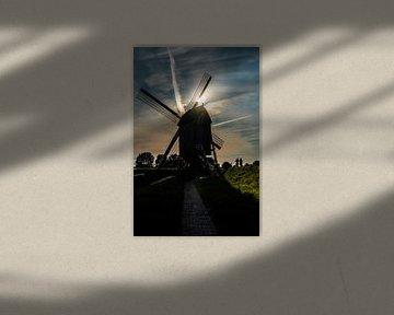 Mühlensilhouette in Heusden von Laura Maessen
