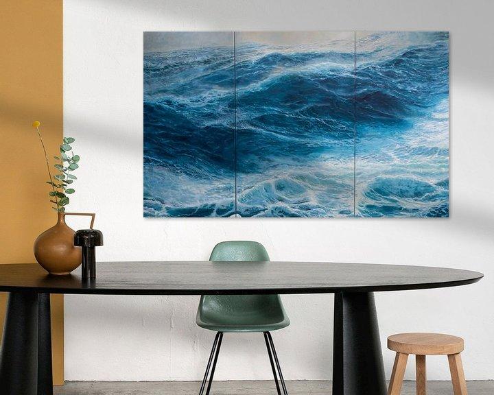 Sfeerimpressie: Drieluik  Windkracht 10 op de oceaan van Bert Oosthout