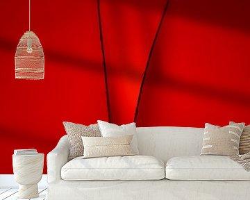 Gevouwen papier in rood licht van Frank Heinz