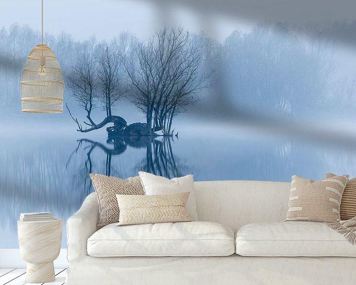 Beispiel fototapete: Insel in einer ruhigen Winterlandschaft von Arjan Almekinders