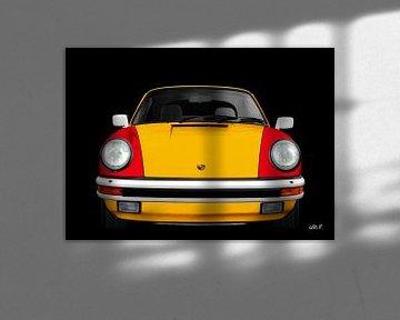 Porsche 911 3.2 Carrera cabriolet in drie kleuren van aRi F. Huber
