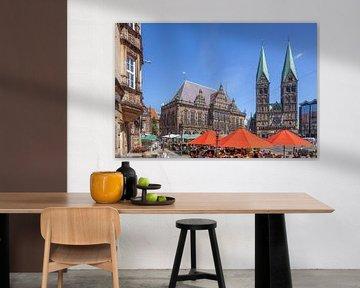 Bremer Rathaus und Dom, Bremen, Deutschland von Torsten Krüger
