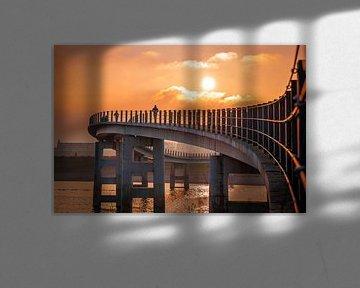 Zonsondergang Nijmegen Noord (Veur-Lent) van Nicky Kapel