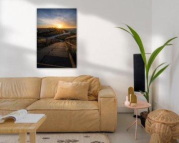 Point de basculement (lever du soleil au-dessus de Zoutelande)