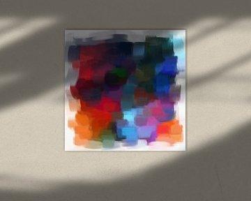 Abstrakt in Blau- und Rottönen von Maurice Dawson