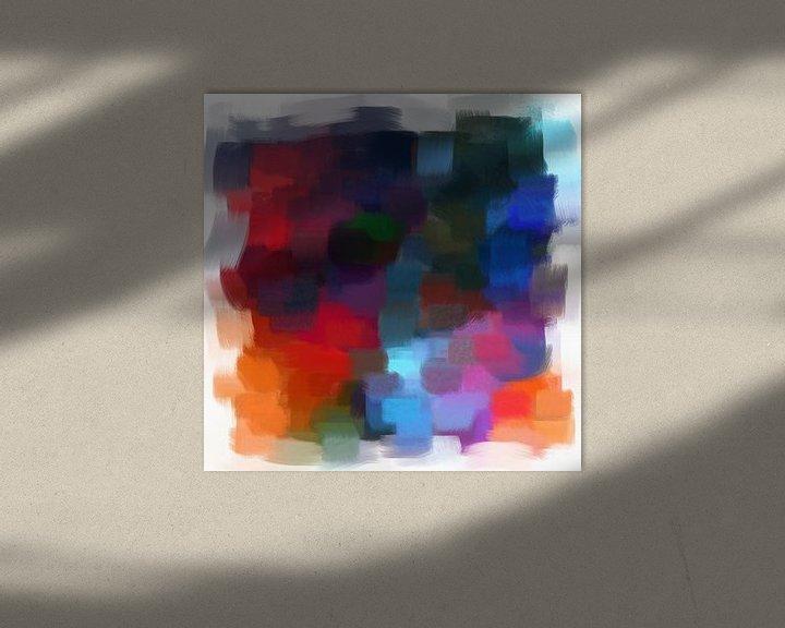 Beispiel: Abstrakt in Blau- und Rottönen von Maurice Dawson