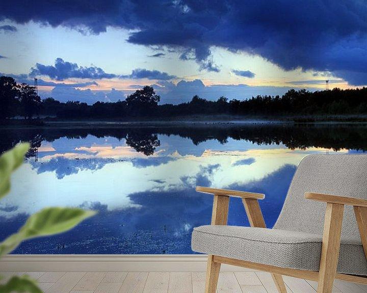 Sfeerimpressie behang: Panorama na zonsondergang van Patrick Brouwers