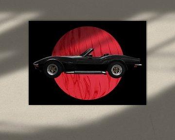 Chevrolet Corvette C3 in black von aRi F. Huber