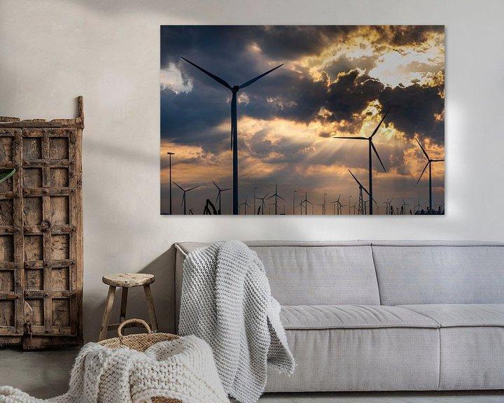 Sfeerimpressie: Windmolenpark Eemshaven van Evert Jan Luchies
