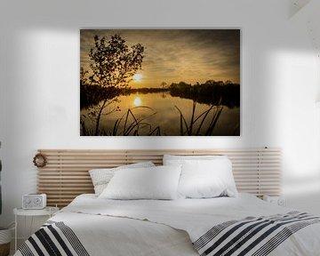 Zonsondergang in de polder 2 van Paula van der Post