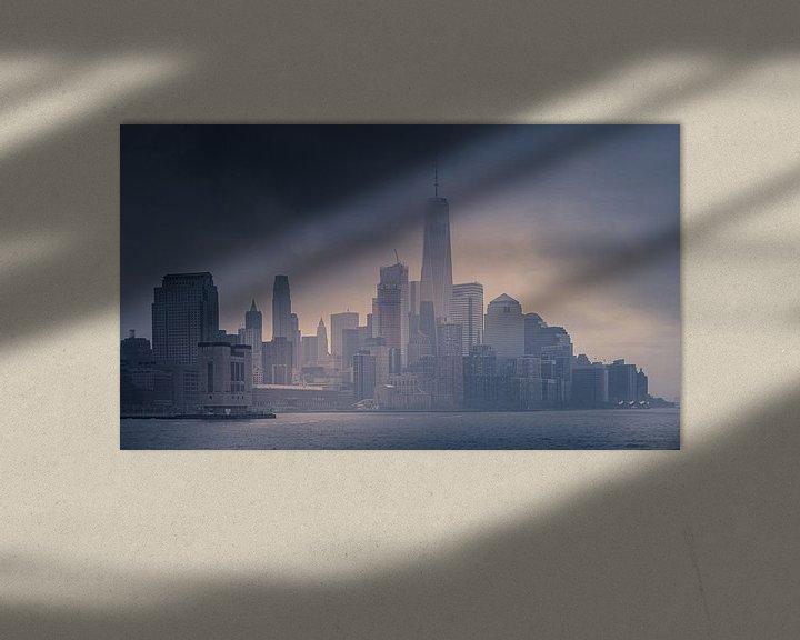 Sfeerimpressie: Downtown in de mist van Dennis Donders