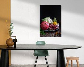 Stilleven met groenten en fruit l Food fotografie van Lizzy Komen