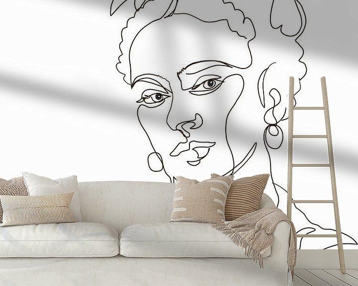Beispiel fototapete: Einfach Frida von christine b-b müller