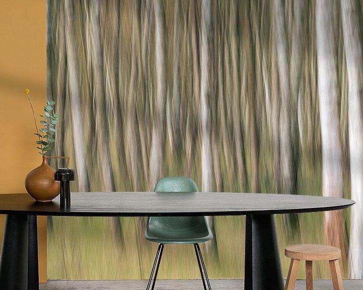 Beispiel fototapete: Birkenwald abstrakt ICM von Vincent Fennis