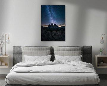 Dolomieten bij nacht