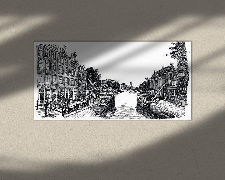 Beispiel: Zeichnung Sluis in Amsterdam Die Niederlande von Hendrik-Jan Kornelis