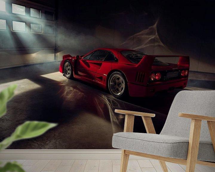 Sfeerimpressie behang: The Ferrari Big 5 - Ferrari F40 by Gijs Spierings van Gijs Spierings