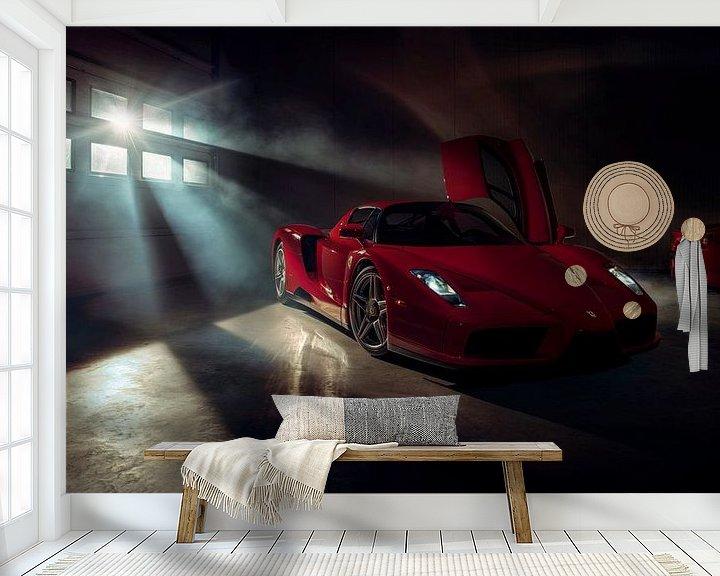 Sfeerimpressie behang: The Ferrari Big 5 - Ferrari Enzo Ferrari by Gijs Spierings van Gijs Spierings