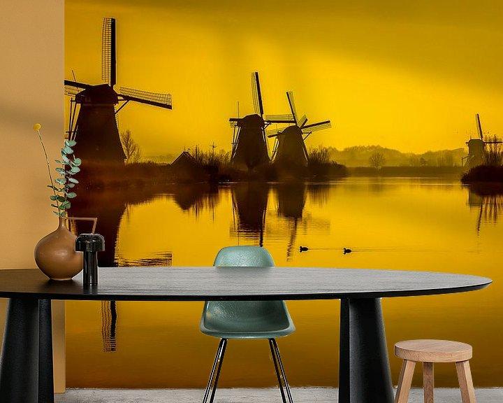 Impression: Moulins à vent sur le Kinderdijk sur Freek van Oord