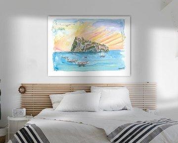 Amore in Ischia Italien mit Castello Aragonese von Markus Bleichner