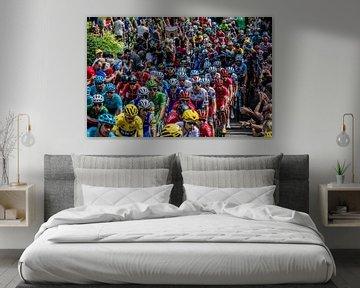 Het peloton van de Tour de France van Hugo Braun