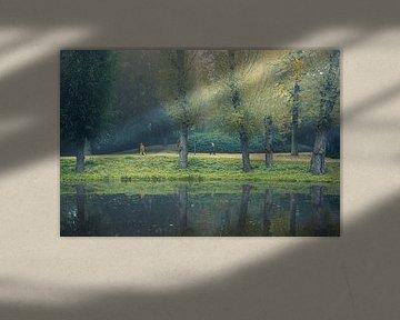 Wandelen in het Noorderplantsoen, Groningen van Hessel de Jong