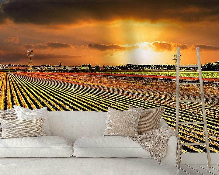 Beispiel fototapete: Goldenes Ackerland von Digital Art Nederland