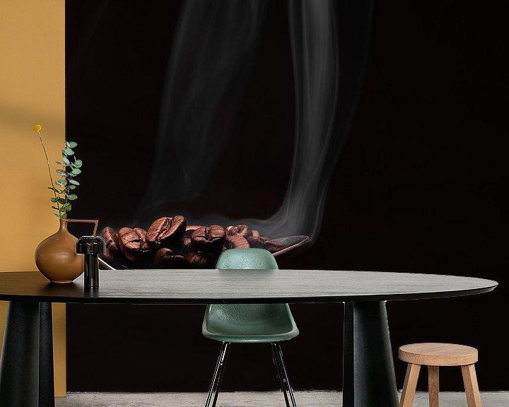 Sfeerimpressie behang: Koffiebonen van Maikel Brands