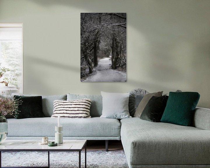 Beispiel: Ein Winterweg im Wald von Rik Verslype