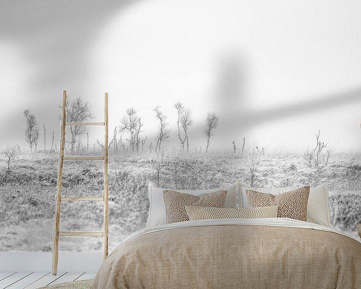 Beispiel fototapete: Ein kalter Wintertag im belgischen Hohen Venn von Rik Verslype