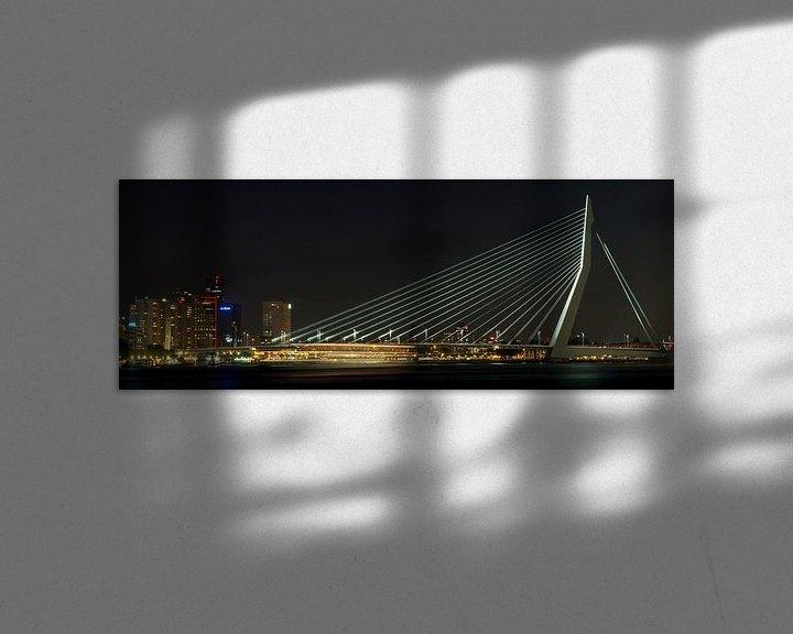 Sfeerimpressie: Passerende boot in de nacht van Miranda van Hulst