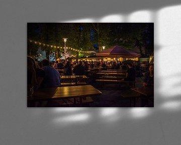 Een avond in een biergarten van Hugo Braun