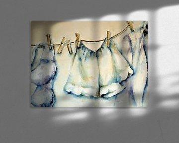 Hängen Sie die saubere Wäsche draußen auf! von Ineke de Rijk