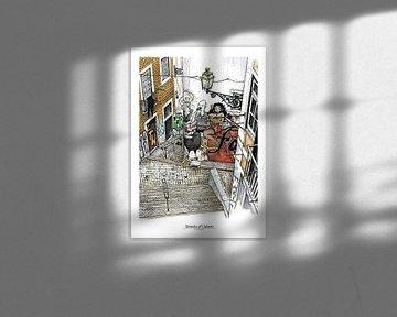 Lissabon Poster 1 - Moraria, van Yeon Yellow-Duck Choi