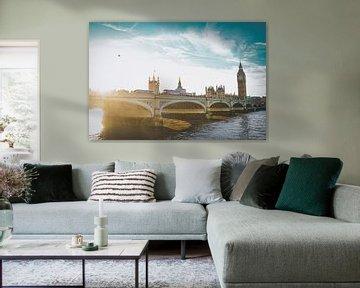 Zonsondergang in Londen, Engeland van Daphne Groeneveld