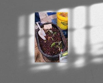 Oliven auf einem Markt auf Mallorca von t.ART