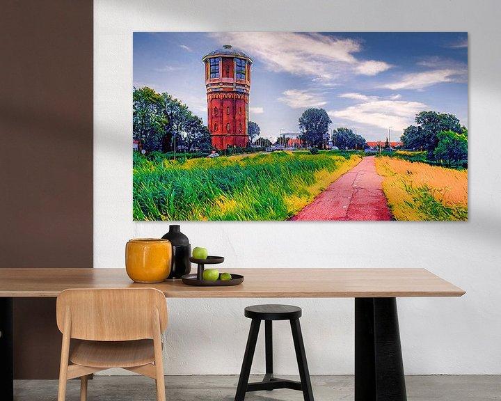 Beispiel: Wasserturm in Assendelft von Digital Art Nederland