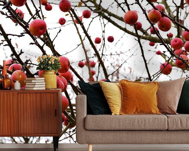 Sfeerimpressie behang: Winterappels wit van Ulrike Leone