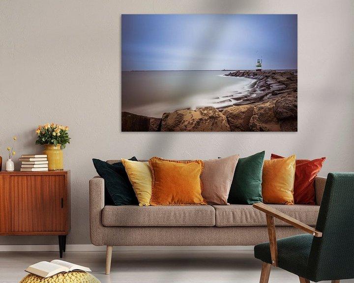 Sfeerimpressie: havenlicht ijmuiden van Maurice Hoogeboom