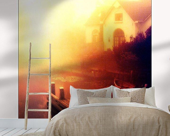 Sfeerimpressie behang: Into the light van Pim Feijen