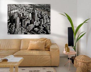 Zeichnung von New York, Manhattan von Lonneke Kolkman