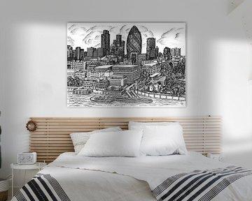 Skyline von London von Lonneke Kolkman