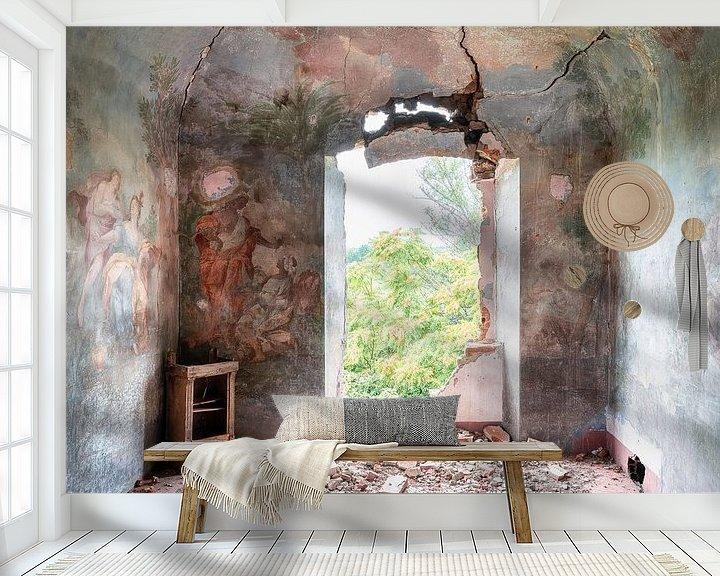 Beispiel fototapete: Gemälde auf abgelaufener Wand. von Roman Robroek