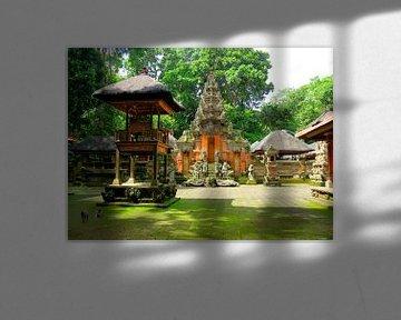 Prachtige tempel in het apenbos van Bali van Thomas Zacharias