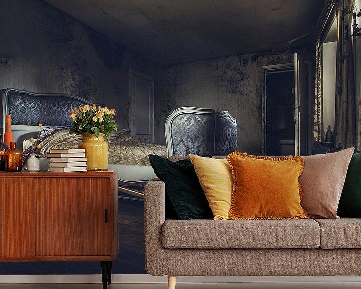 Sfeerimpressie behang: slaapkamer van Christophe Van walleghem