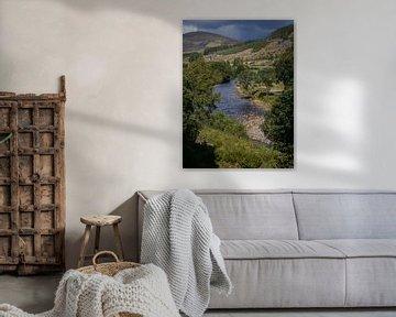River Isla bij Little Forter (Scotland) van Mart Houtman