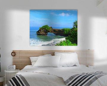 Watertempel Tanah Lot op Bali van Thomas Zacharias
