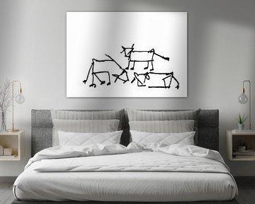 Drei Kühe auf einer Wiese von h-Edys