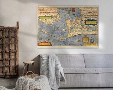 Karte, Nordholland und Friesland, 1586